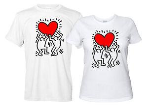Maglietta-Keith-Haring-Personalizzata-Uomo-Donna-T-shirt-Bianca-Graffiti-Writer