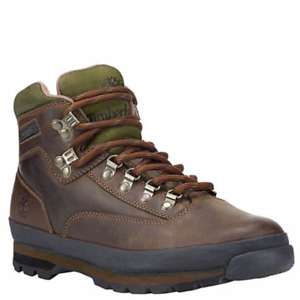 Details about Men's Classic Leather Timberland Euro Hiker Boots Brown FREE SHIP! HOT DEAL!