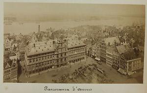 Panorama-Anversa-Antwerpen-Belgio-Vintage-Albumina-Ca-1880
