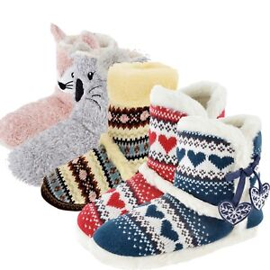 LADIES-SLIPPER-BOOTS-FAUX-FUR-LINED