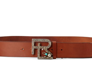 Buckle Rl Turquoise Leather Motif Silver Ralph Vachetta About Belt Details Collection Lauren e2YDHI9WE