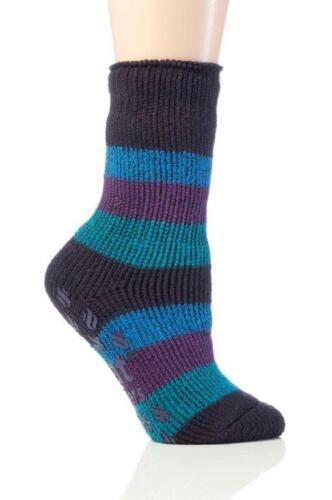 Children GENUINE Thermal Winter Warm Stripe Gripper Heat Holders Slipper Socks