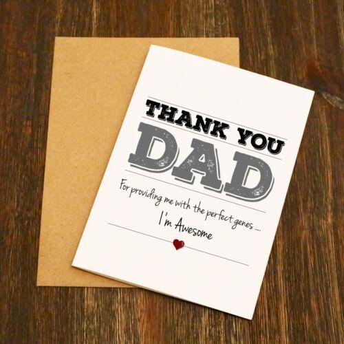 Merci Papa-Je suis génial Drôle Père Carte-Free Post-livraison rapide