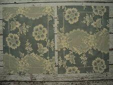 PIERRE FREY Set of 2 Boudoir Pillow Shams Covers Slate Blue Ivory Floral Cotton