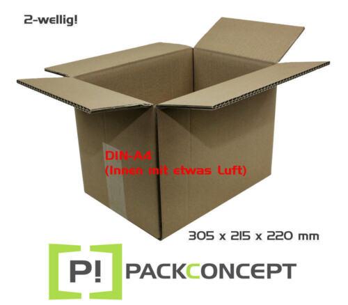 Faltkarton 2-wellig 305 x 215 x 220 mm; Karton; DIN-A4; Versandkarton; §4