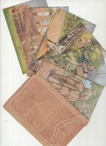 Tucks-Oilette-series-BOMBAY-series-111-set-x-6-postcards-in-original-packet