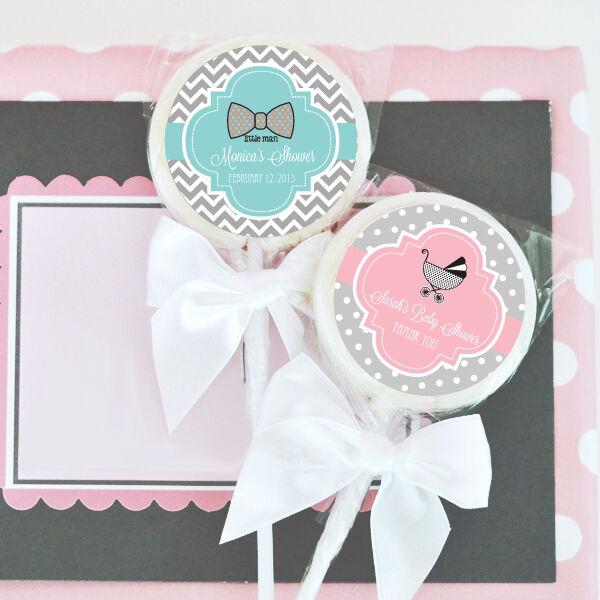 96 Something Sweet Personalized Lollipops Baby Shower Lollipop Favors