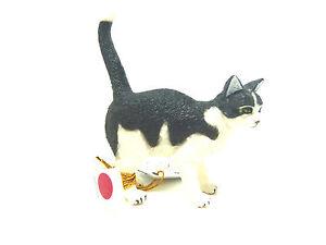 S17) NEU PAPO (54041) Katze Schwarz weiß Haustiere Tierfigur Tierfiguren