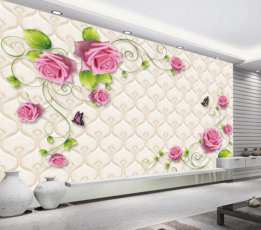 3D Blaumen Rosa 8964 Tapete Wandgemälde Tapete Tapeten Bild Familie DE Summer | Viele Sorten  | Gemäßigten Kosten  | Überlegene Qualität