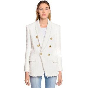 en double tweed blazer à boutonnage 2019 laine de vogue en FvCPwWq6