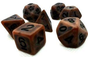 RPG-Wuerfel-Set-7-teilig-Poly-DND-Antik-Copper-dice4friends-Tabletop-w4-w20-Top