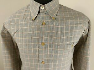 Scott-Barber-Mens-Houndstooth-Long-Sleeve-Button-Down-Shirt-Size-Large
