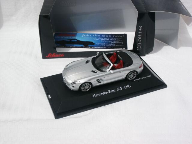 MERCEDES-BENZ SLS AMG ROADSTER (A197) ARGENT EDIT LIMITEE 1000 EX 1/43 SCHUCO