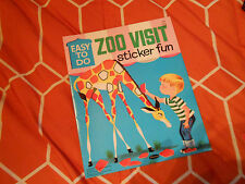 Vintage 1962 Easy to Do ZOO VISIT Sticker Fun Book by Whitman Publishing - NEW