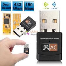 600Mbps Dual Band 2.4G / 5G Hz Wireless Lan USB PC WiFi Adapter 802.11AC/a/b/g/n