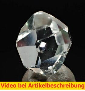 5554-7-Herkimer-034-Diamant-034-ca-1-5-cm-Einschluesse-Herkimer-Quarz-USA-VIDEO