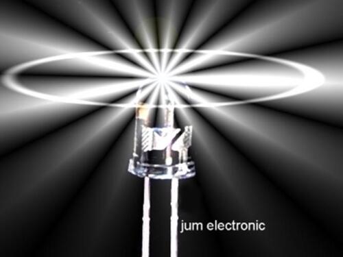 Led 40° Abstrahlwinkel WEIß 6000mcd 3mm rund 10 Stück Leuchtdioden