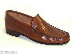 Casual Marrone Scarpe 44 Uomo In Estate Classiche Mocassini Pelle qBBSEg0