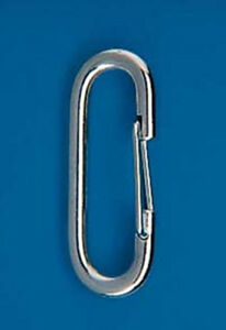 STAINLESS-STEEL-Spring-Loaded-Flag-Snap-Clip-CARABINER-2-3-8-034-Length-Made-in-USA