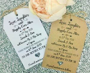 Image Is Loading Wedding Abroad Destination Save The Date Invitation