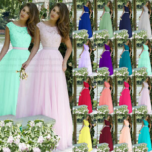 Charming-Bridesmaid-Dresses-Top-with-lace-Evening-Prom-Party-Dress-Size-6-18