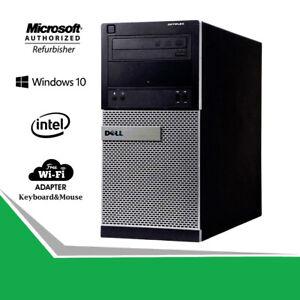 Dell-Fast-3020-Tower-Business-Desktop-Quad-Core-i5-8GB-Computer-PC-HDMI-WiFi-Win