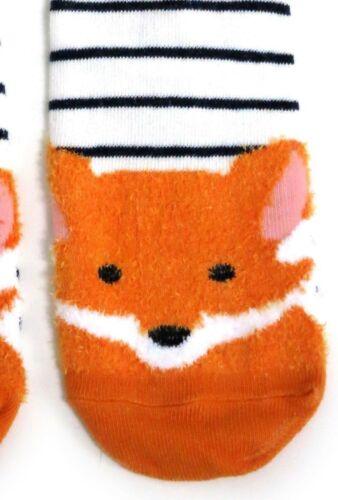 LADIES GINGER RED FOX STRIPY BLUE SOCKS UK 4-8 EUR 37-42 USA 6-10