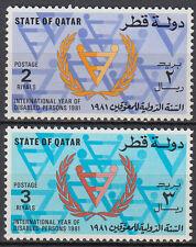 Qatar 1981 ** Mi.798/99 Behinderte Year of Disabled Persons