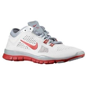 buy online 28775 a741f Nike Women's Free 5.0 TR Fit 4 Team-White/Wolf Grey/Platinum/Red ...