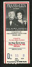 Frank Sinatra Liza Minnelli 1988 Concert Ticket Stub San Diego Strangers In The