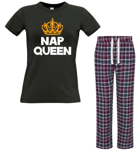 Edward Sinclair Nap Queen/' Women/'s T-Shirt /& Bottoms Pyjama Set