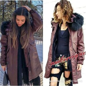 de552846 ZARA NEW EXTRA WARM FAUX FUR HOOD DETACHABLE PARKA COAT SIZE S UK 8 ...