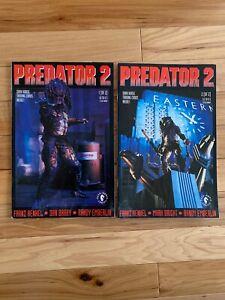 Predator-II-Movie-2-Issue-Dark-Horse-Comic-Book-Set-Dark-Horse-1-2-With-Cards