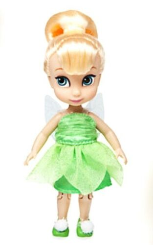 """DISNEY MINI DOLL ANIMATORS COLLECTION 5/"""" TINKER BELL PETER PAN 2016 TOY FIGURE"""