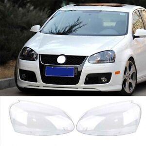 2x-Headlight-Lenses-Cover-Replacement-For-VW-Volkswagen-Golf-MK5-2005-2009