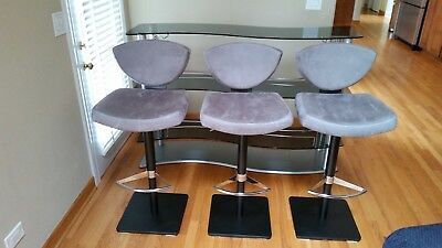 Astonishing Elite Modern Tinted Glass Bar Set Bar Table Unit And 3 Bar Swivel Chairs Stools Ebay Lamtechconsult Wood Chair Design Ideas Lamtechconsultcom