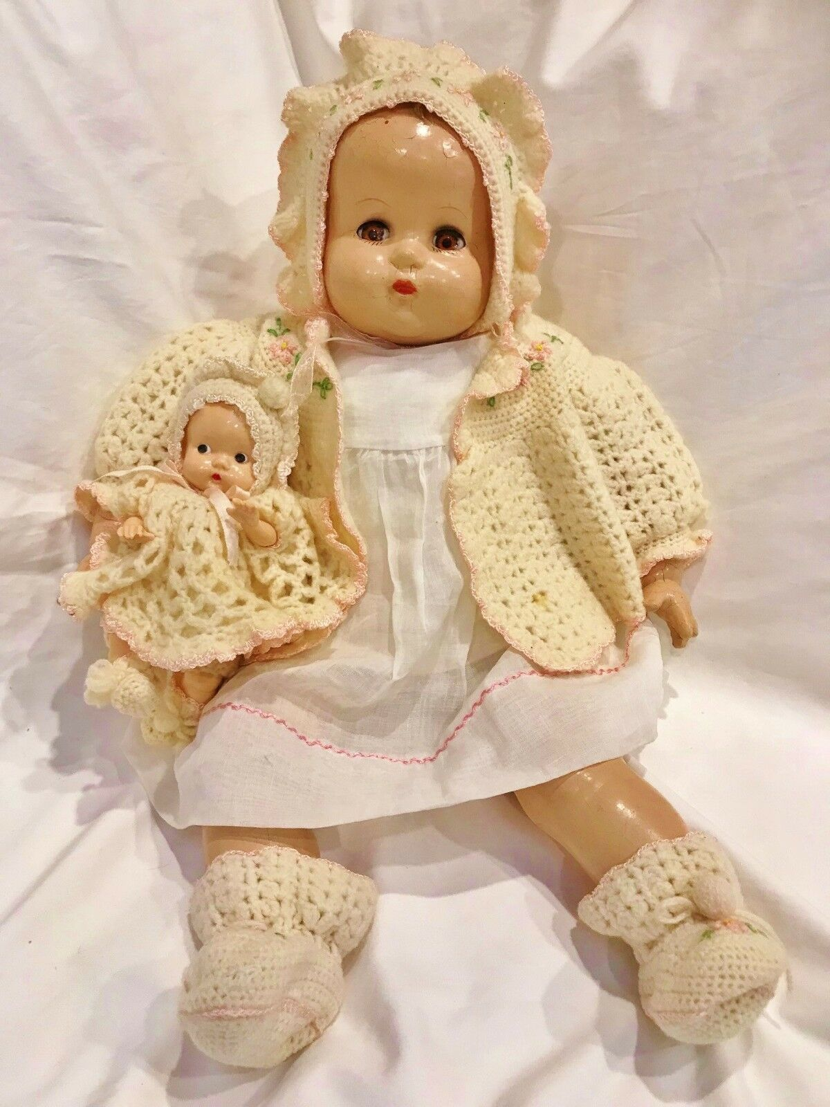 1930 1940 Ideal Plassie Baby Coos Doll Beautiful Compo 22  LifeGröße Boopsie Babe