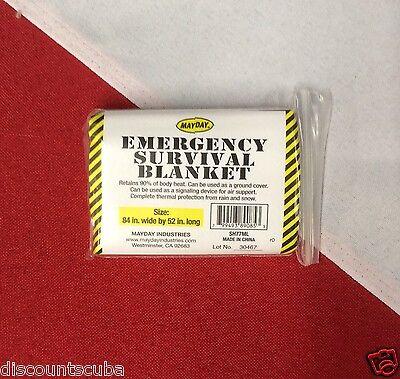 "Water Sports Alert Survival Emergency Blanket Tactical Disaster 84x52"" Bug Out Bag Camping Home Lot Fins, Footwear & Gloves"