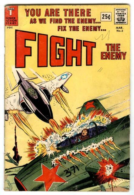 FIGHT The Enemy #3 March 1967 Wally WOOD Art Tower Comics WAR