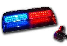 Red Blue Light 1 W LED Visor Strobe Dash Deck Emergnecy Warning Hazard Towing