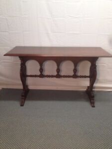 Image Is Loading Antique Spanish Revival Sofa Wall Entry Table