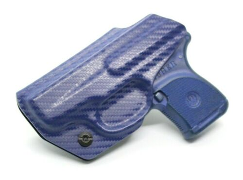 Ruger LCP 380 Kydex Holster Adjustable IWB Right Hand Carry Blue Carbon Fiber