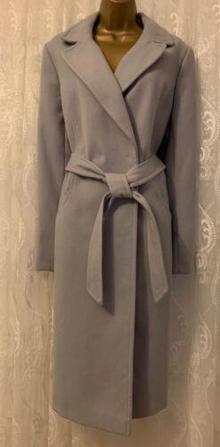 Wrap Collar Popper Asos Uk 16 Belt Coat Grey Classic Trench a Tie 8 City lungo FtxwwqRnf