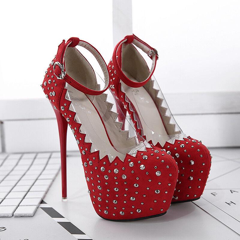 Damen Schuhe Pumps Fesselriemen High Heels Stiletto Platform Fesselriemen Pumps Elegant Sweet Party 09db5d