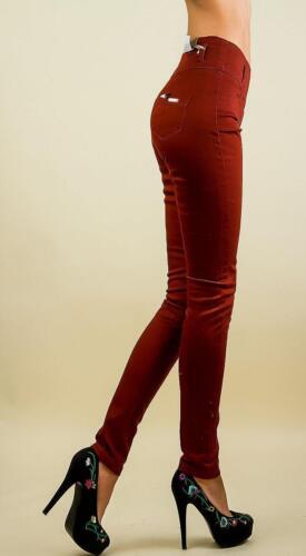 Corsagen jeans High Waist TUBI Marrone Pantaloni Skinny Stretch Donna 30 32 34 36