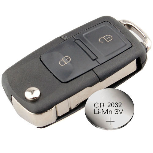 new battery for Skoda Fabia Octavia 2 Buttons Remote Key FOB Case Shell