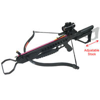 175 Lb Black Hunting Crossbow Archery Bow +7 Arrows / Bolts +stringer +wax 150 on sale