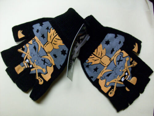 NWT 1 PAIR Black Fingerless cut Gloves ICP THE GREAT MILENKO INSANE CLOWN POSSE