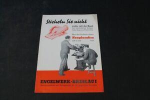 Age Print Engelwerk Breßlau Milling Machine Advertising Collector