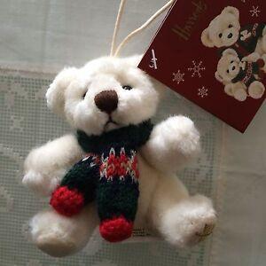 HARRODS Christmas 2006 Alexander Bear Ornament New Plush ...